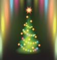 Home Christmas fir tree vector image
