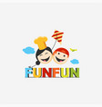 kids fun play logo template vector image