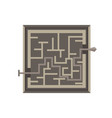 labyrinth maze game isolated exit icon shape vector image vector image