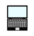 laptop computer isolated on white icon design vector image vector image
