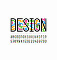 linear style colorful font vector image