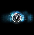lock shield with security lock concept futuristic vector image vector image