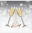new year glasses champagnerealistic style vector image