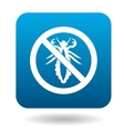 No louse sign icon simple style vector image vector image
