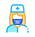 nurse paramedic icon outline vector image vector image