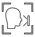 office face recognition icon outline style vector image vector image