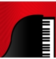 Piano on a red background vector image