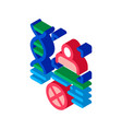 rebuttal paternity file isometric icon vector image vector image