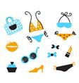 Retro bikini icons