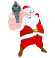 Robber Santa Claus vector image vector image