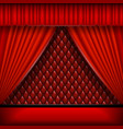 scene with red curtains vector image