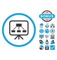 Scheme Screen Flat Icon with Bonus vector image vector image