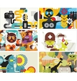 Six business card covers vector image