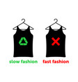 slow fashion is right choice to save earth vector image vector image