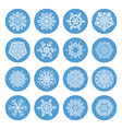 Snowflakes winter set vector image