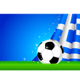Soccer and Nation Flag vector image vector image