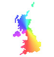 spectrum hexagon united kingdom map vector image vector image