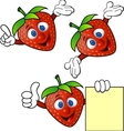 Strawberry cartoon character vector image