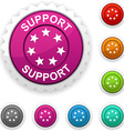 Support award vector image vector image
