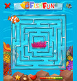 underwater maze puzzle game vector image vector image