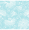 White seamless flower pattern vector image vector image
