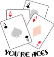 Youre Aces vector image