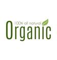 Healthy organic natural fresh logo vector image