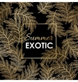 Palm leaves pattern vector image