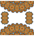 Gold embroidery vector image