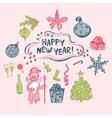 Christmas set of hand-drawn vector image