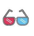 3d glasses technology to watch movie vector image