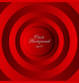 abstract 3d red circles layer space shadow vector image