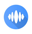 abstract soundwave blue flat design long shadow vector image vector image