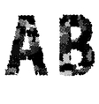 Alphabet Grunge Font Style Letters made from vector image vector image