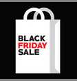 bag for black friday shopping at autumn sale vector image vector image