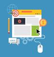 Blog management blogging concept Flat design vector image vector image