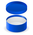 blue round box vector image vector image