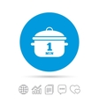 Boil 1 minute Cooking pan sign icon Stew food