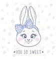 bunny cute vector image vector image