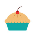cake cherry dessert pastry product food fresh vector image vector image