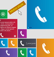 Call icon sign buttons Modern interface website vector image vector image