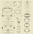 Calligraphic Shapes vector image vector image