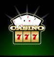 casino signboard template vector image