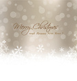Christmas card with blur background vector image