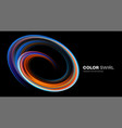 color bright swirl organic 3d shape colored flow vector image vector image