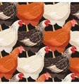 Colorful hens seamless vector image