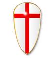 crusaders shield vector image vector image