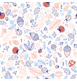 cute forest elements seamless pattern vector image vector image