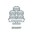 dessert line icon linear concept outline vector image vector image