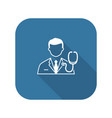 doctor and medical services icon flat design vector image vector image